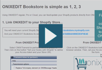 ONIXEDIT Bookstore - Your online bookstore, live from your ONIX file.