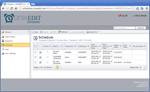 ONIXEDIT Scheduler